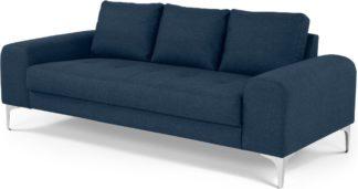 An Image of Vittorio 3 Seater Sofa, Scuba Blue