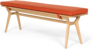An Image of Jenson Bench, Oak and Retro Orange
