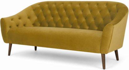 An Image of Tallulah 3 Seater Sofa, Vintage Gold Velvet