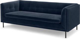 An Image of Farley Large 2 Seater Sofa, Navy Cotton Velvet