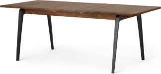 An Image of Lucien 6- 8 Seat Extending Dining Table, Dark Mango Wood