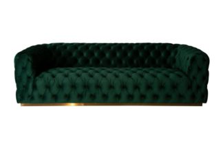 An Image of Frankfurt Three Seat Sofa - Bottle Green