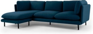 An Image of Wes 3 Seater Chaise End Corner Sofa, Petrol Teal