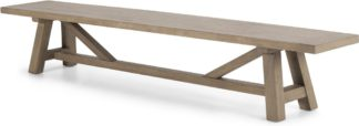 An Image of Iona Extra Large Bench, Washed Pine