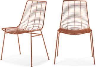 An Image of Set of 2 Marvel Dining Chairs, Copper