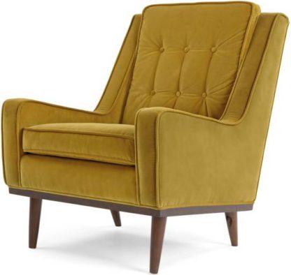An Image of Scott Armchair, Gold Cotton Velvet