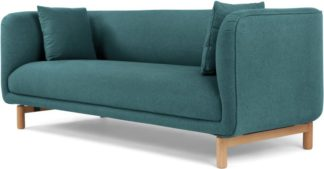 An Image of Becca 3 Seater Sofa, Mineral Blue