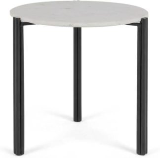 An Image of Baylor Side Table, Black and Marble