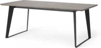 An Image of Boone 6 Seat Dining Table, Concrete Resin Top