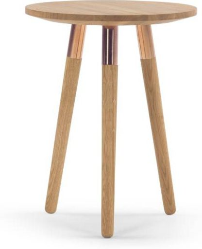 An Image of Range Side Table, Solid Oak and Copper