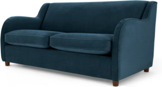 An Image of Helena Sofabed, Plush Teal Velvet
