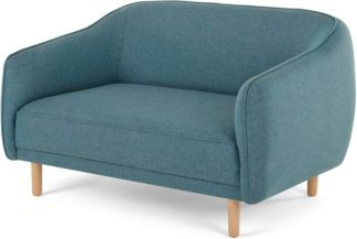 An Image of Haring 2 Seater Sofa, Azure Blue
