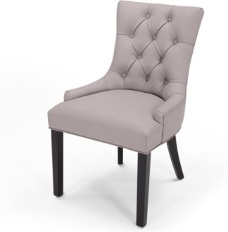 An Image of Flynn Scoop Back Chair, Pewter Grey PU