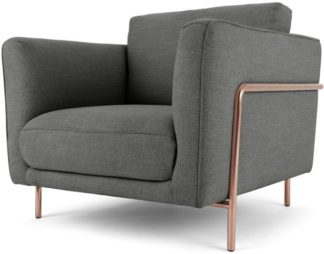 An Image of Everson Armchair, Shuttle Grey with Copper leg