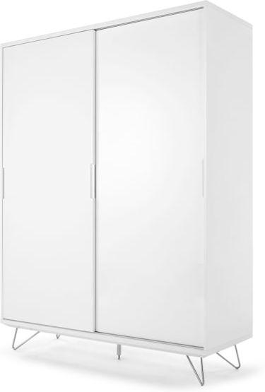 An Image of Elona Sliding Wardrobe, White gloss