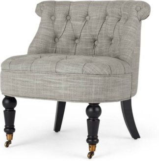 An Image of Bouji Accent Chair, Grey Linen Mix