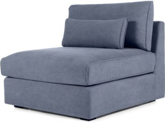 An Image of Trent Loose Cover Modular Seat, Washed Blue Cotton