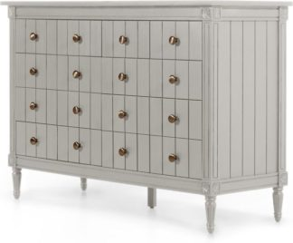 An Image of Bourbon Vintage Wide Chest Of Drawers, Grey
