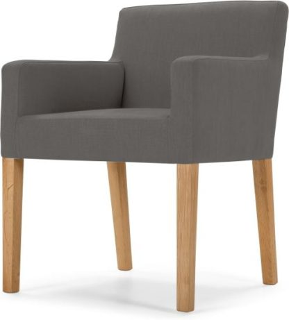 An Image of Wilton Carver Dining Chair, Graphite Grey