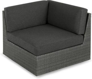An Image of Cordon Garden Modular Corner Unit, Dark Grey