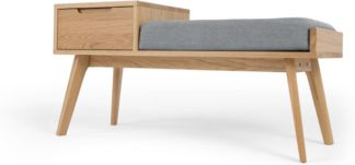 An Image of Jenson Storage Bench, Oak