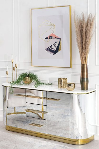 An Image of Anastasia Sideboard with Brass Details