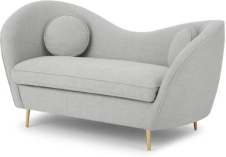 An Image of Kooper 2 Seater Sofa, Luna Grey Weave