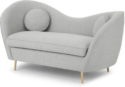 An Image of Kooper 2 Seater Sofa, Luna Grey Weave