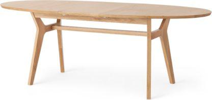 An Image of Jenson 6-8 Oval Extending Dining Table, Oak
