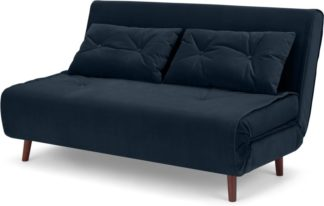An Image of Haru Large Double Sofa Bed, Sapphire Blue Velvet