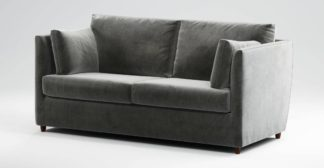 An Image of Custom MADE Milner Sofa Bed with Memory Foam Mattress, Steel Grey Velvet