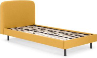 An Image of MADE Essentials Besley Single Bed, Yolk Yellow