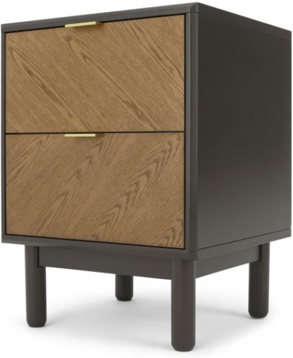 An Image of Belgrave Bedside Table, Dark Stained Oak