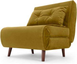 An Image of Haru Single Sofa Bed, Vintage Gold Velvet