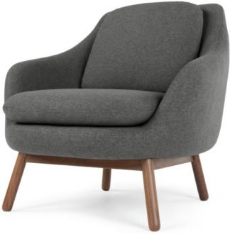 An Image of Oslo Accent Chair, Marl Grey