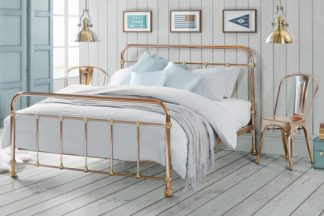 An Image of Martino Copper and Brass Dormitory style Bed