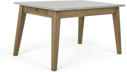 An Image of Fawn Dining Table, Mango Wood and Zinc