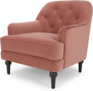 An Image of Flynn Armchair, Blush Pink Velvet