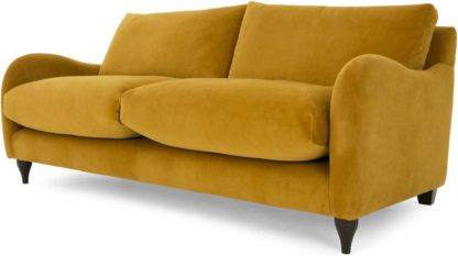 An Image of Sofia 2 Seater Sofa, Plush Turmeric Velvet