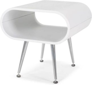An Image of Hooper Storage Side Table, White