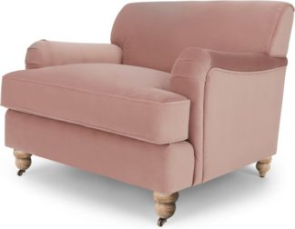 An Image of Orson Armchair, Vintage Pink Velvet