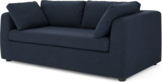 An Image of Mogen 3 Seat Sofa Bed, Storm Blue