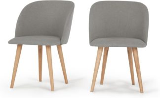 An Image of Set of 2 Stig Dining Chairs, Manhattan Grey and Oak