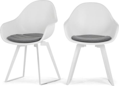 An Image of Set of 2 Boone Dining Chairs, White