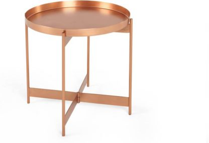 An Image of Magda Side Table, Brushed Copper