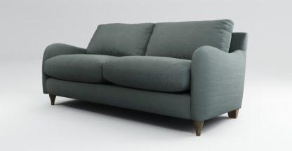An Image of Custom MADE Sofia 2 Seater Sofa, Athena Dark Grey with Light Wood Legs
