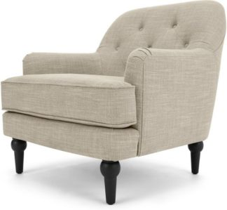 An Image of Flynn Armchair, Taupe Linen Mix