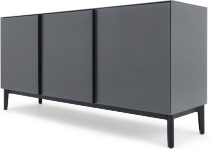 An Image of Silas Sideboard, Smoked Grey Glass