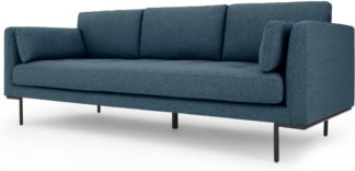 An Image of Harlow 3 Seater Sofa, Orleans Blue