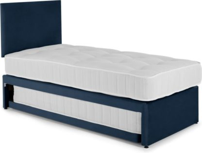 An Image of Hyron Guest Bed with 2 Mattresses, Blue Velvet